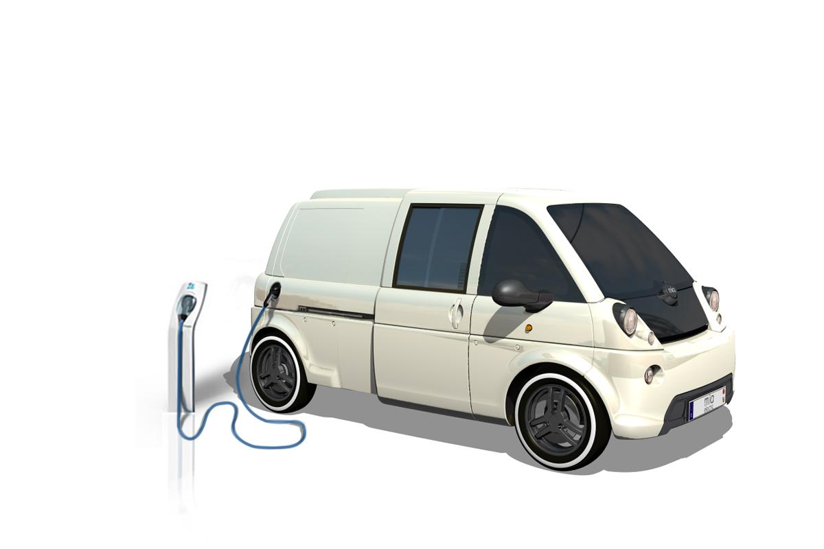 French/German electric vehicle manufacturer mia has developed a small plug-in delivery van with a top speed of 68 mph and a battery range of up to 80 miles