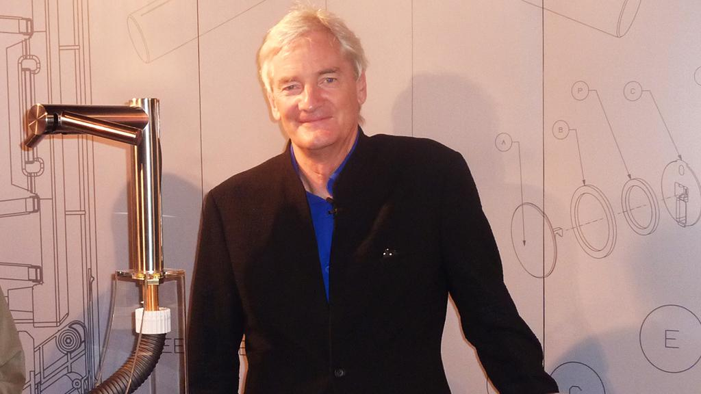 Sir James Dyson at the Sydney launch event for Dyson's new line of Airblade hand dryers