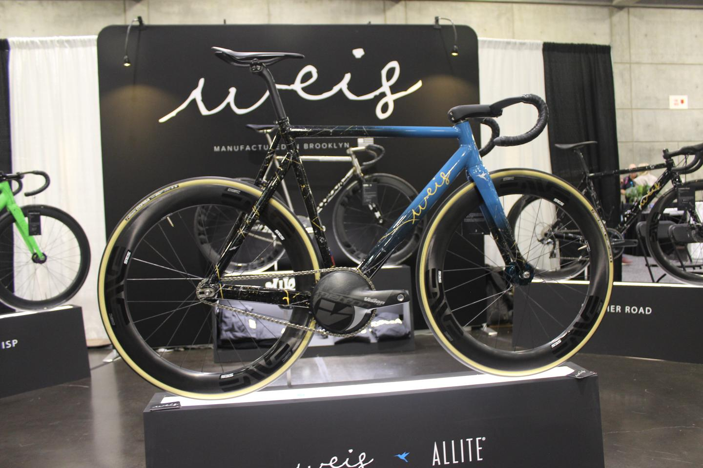 The prototypeWeis Hammer Track Allite Super Magnesium Edition, on display at NAHBS