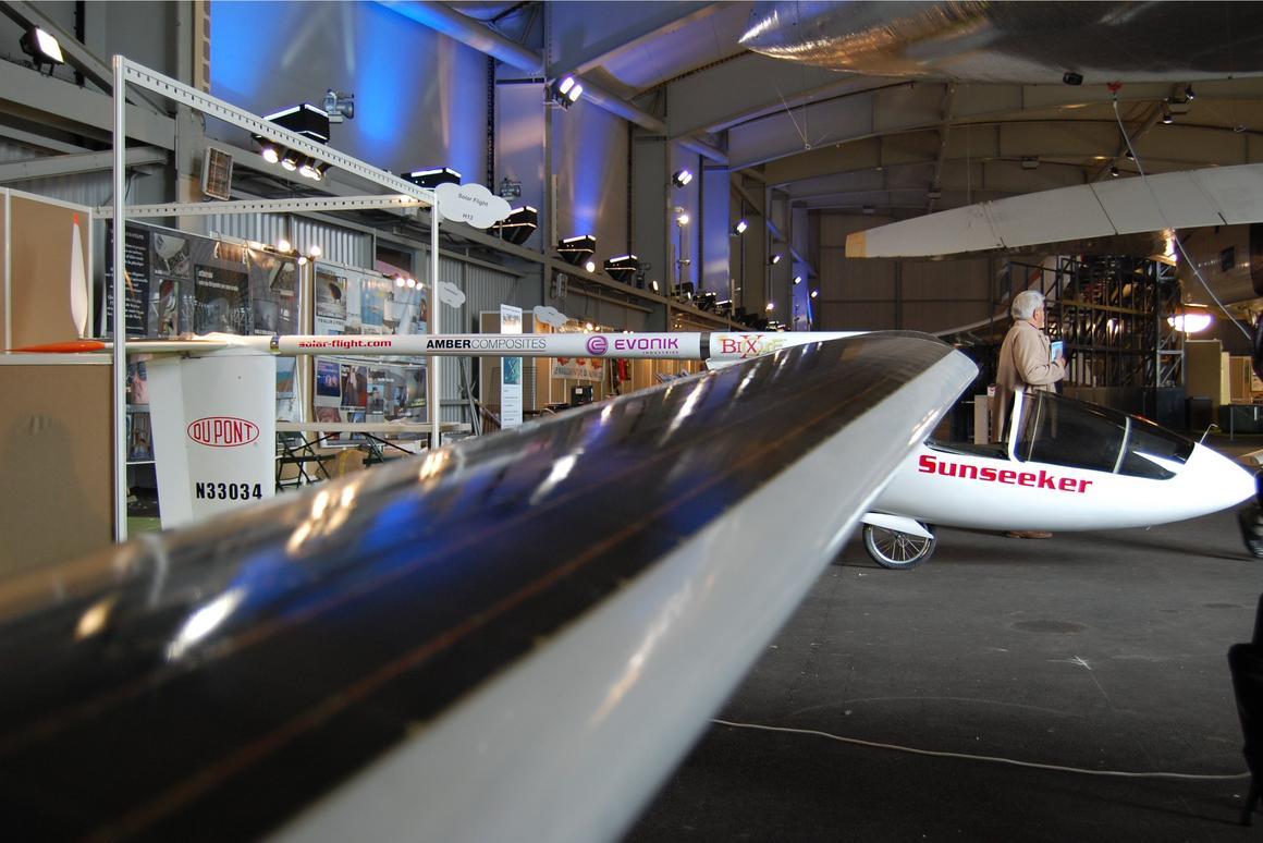 The huge 17 meter wingspan of the Sunseeker II