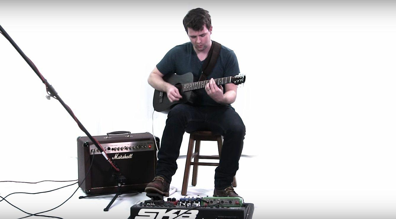 The addition of a Fishman Sonitone preamp allows Klos travel guitar players to go plugged or unplugged