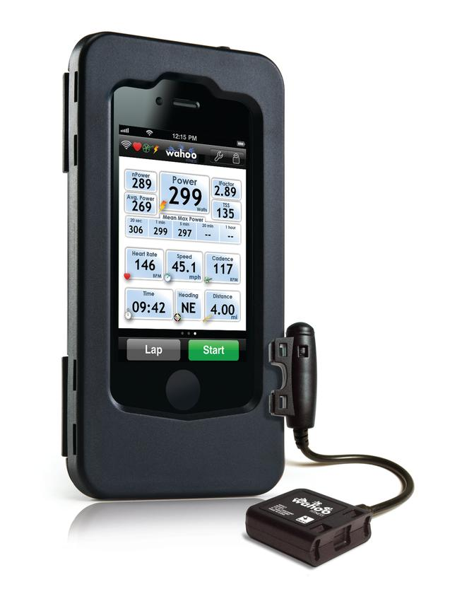The Pack includes a water and shock resistant case that allows for full touchscreen access, a Premium Speed and Cadence Bike Sensor, and the free Wahoo Fitness app