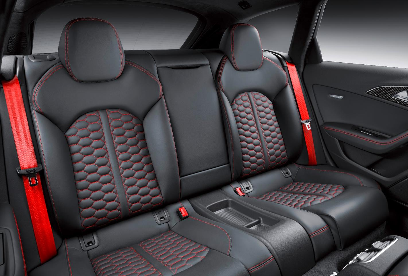 Rear seat passengers get bucket-style seats in the RS6