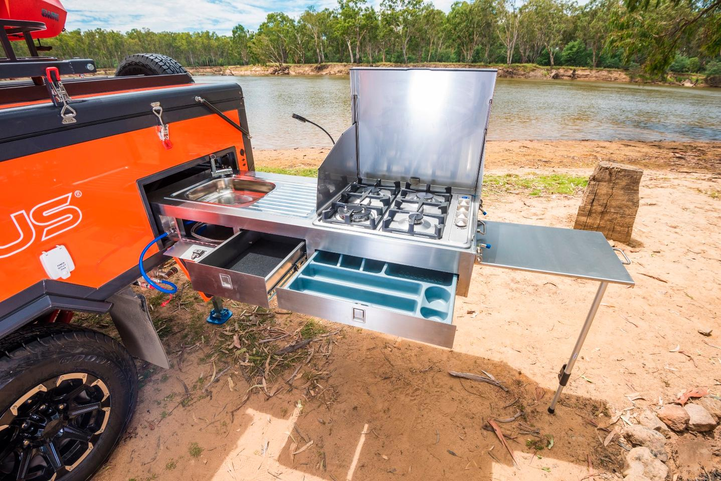 Opus Outback off-road camper takes inflatable comfort