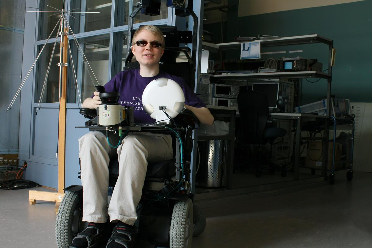 Researchers have developed and publicly tested a laser-guided feedback system which will help wheelchair-bound blind users to detect and avoid obstacles