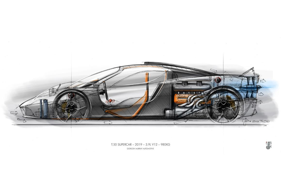 The T.50 will be Gordon Murray's 50th design, but his first car as a manufacturer
