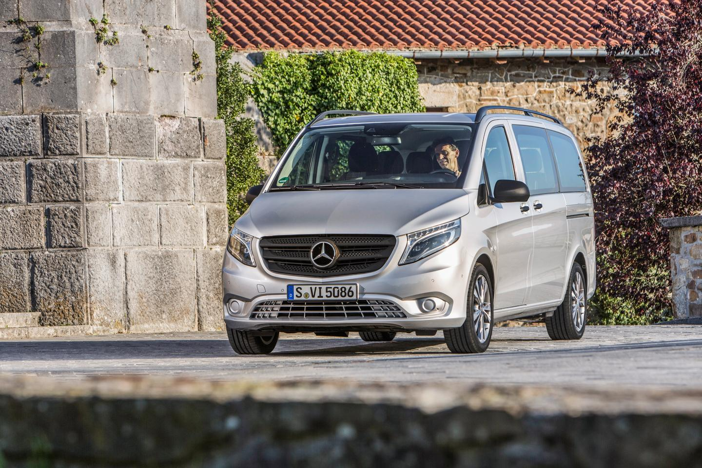 The Mercedes-Benz Vito has a four-wheel drive option for more rugged areas