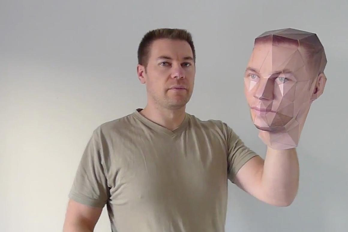 Recreate yourself as a 3D paper model at Paper-Kit.com
