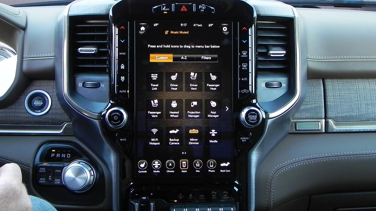After a week in the 2019 Ram 1500 Laramie Longhorn model, we'vebecomevery familiar – and enamored –with the new Uconnect 4C Nav 12-inch infotainment system