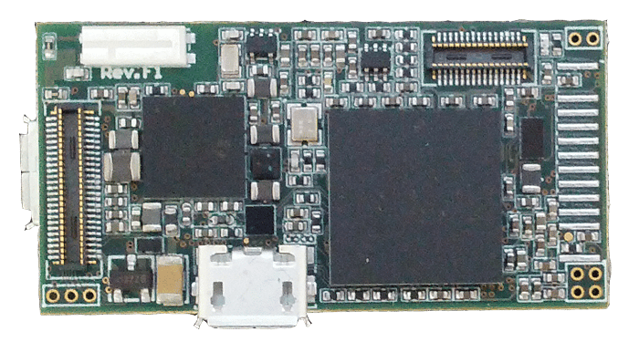 The UAV is built around the company's ARM Cortex-A9 processor (pictured), and features 1GB of built-in RAM, an SD card slot, and is Wi-Fi and Bluetooth-enabled