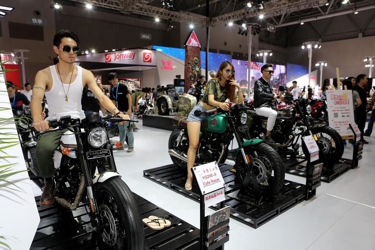 The Yingang stand heavily promoted the new Ninety Cafe Racer and Ninety Scrambler models which use 200cc single cylinder motors