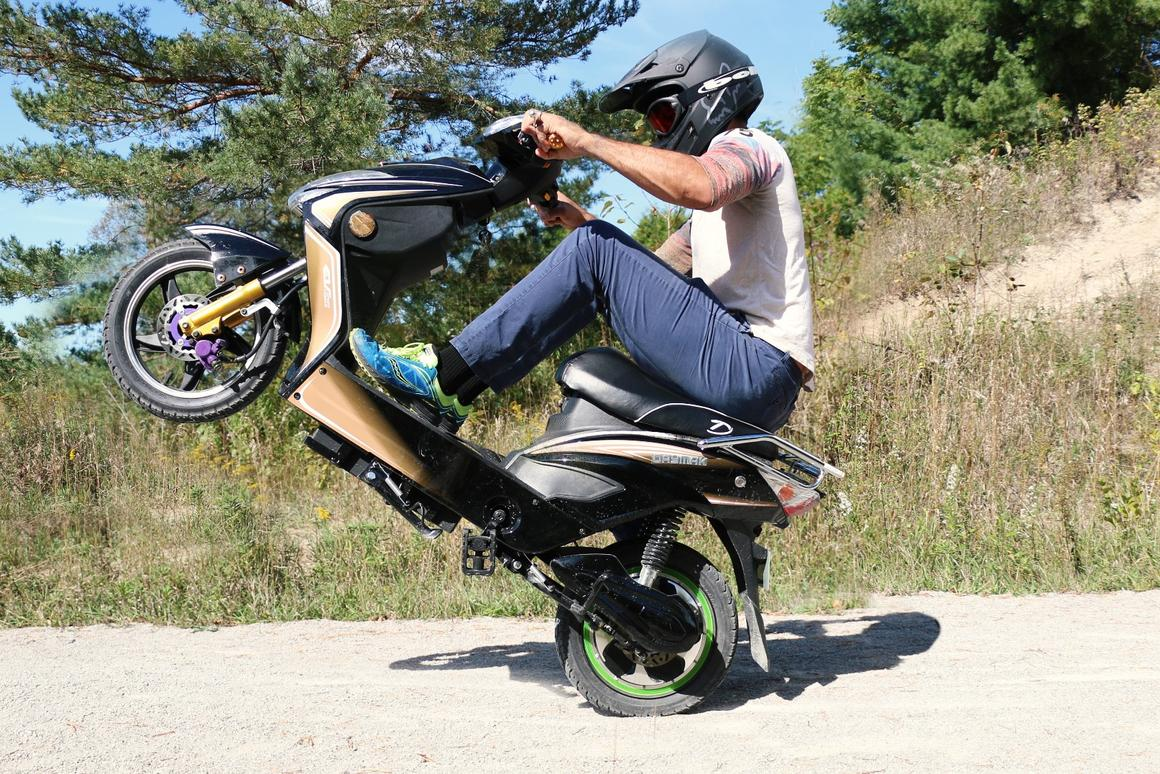 Chameleon riders can engage turbo mode for some extra electric grunt