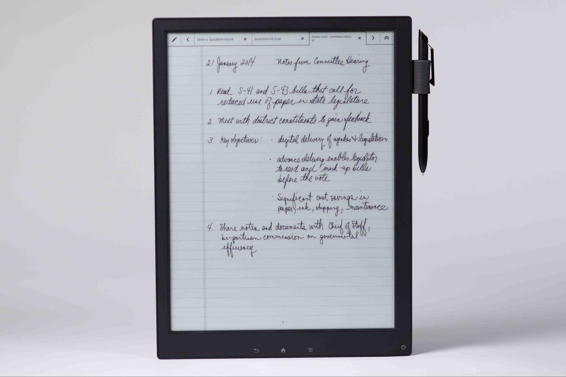 Digital Paper features 4 GB of internal storage and a microSD card slot for additional storage