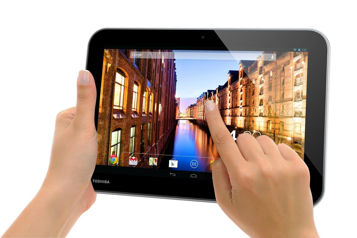 Two of Toshiba's three new Excite tablets feature a native screen resolution of 2560 x 1600
