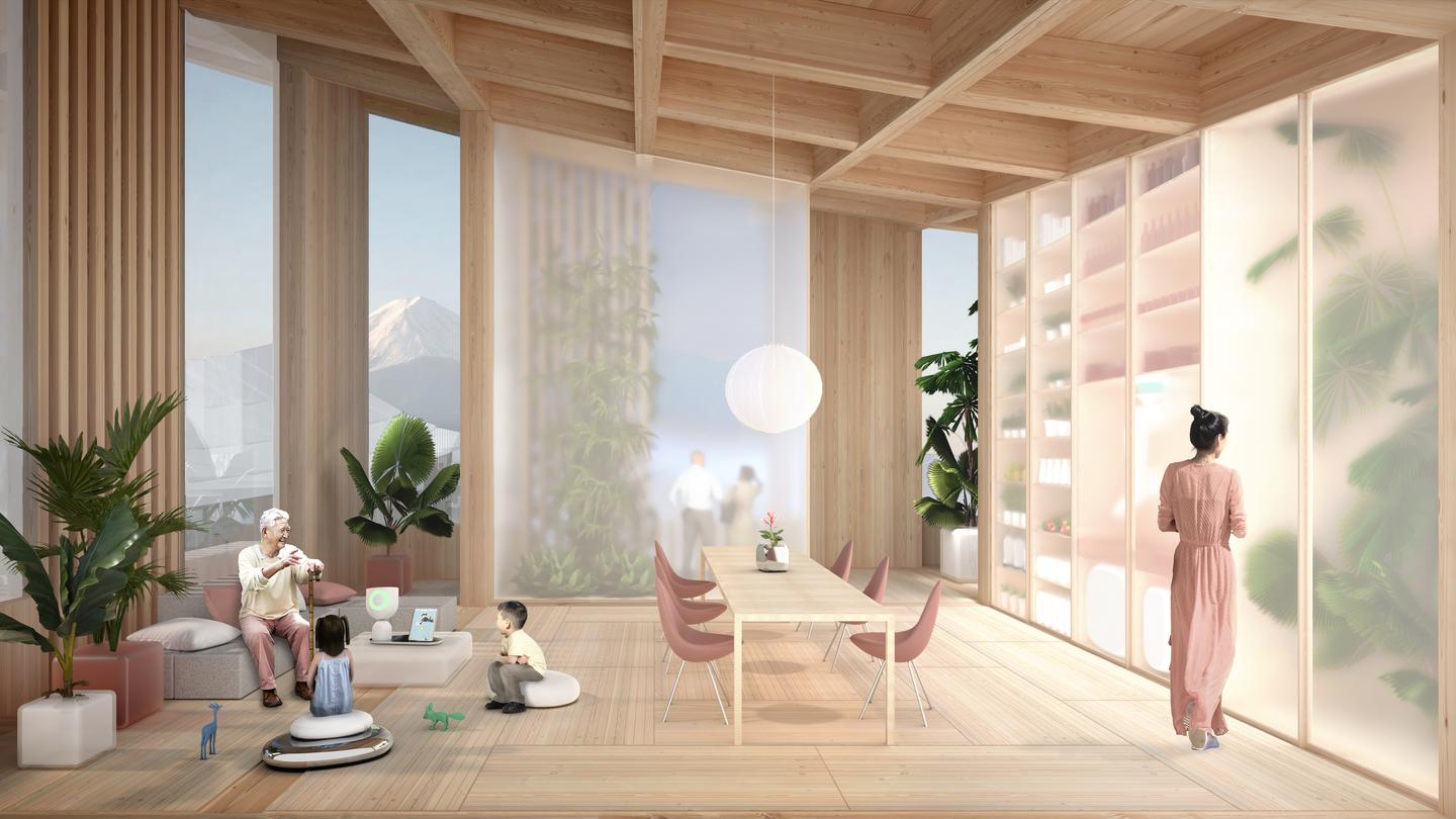 Spectacular views of Mt. Fuji and all manner of high-tech home robotics await Woven City dwellers