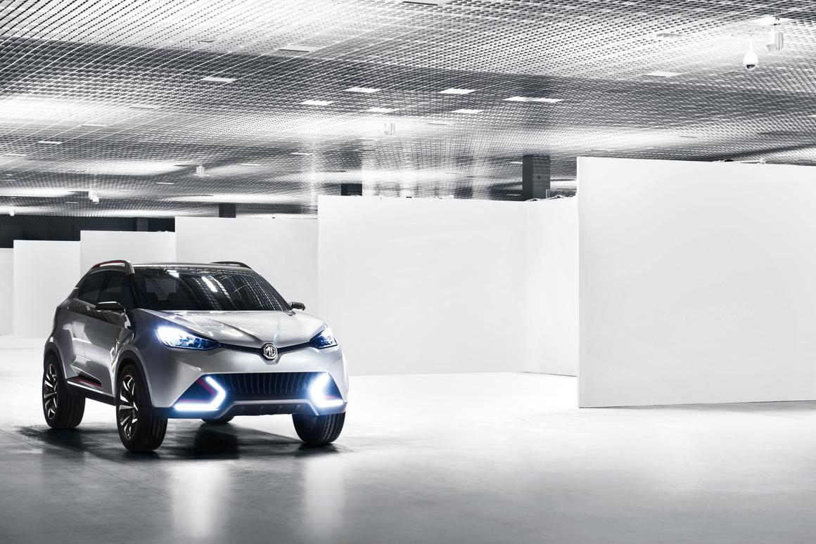 MG CS headlights have a multi-faceted 'shard' structure which refracts light in various colours