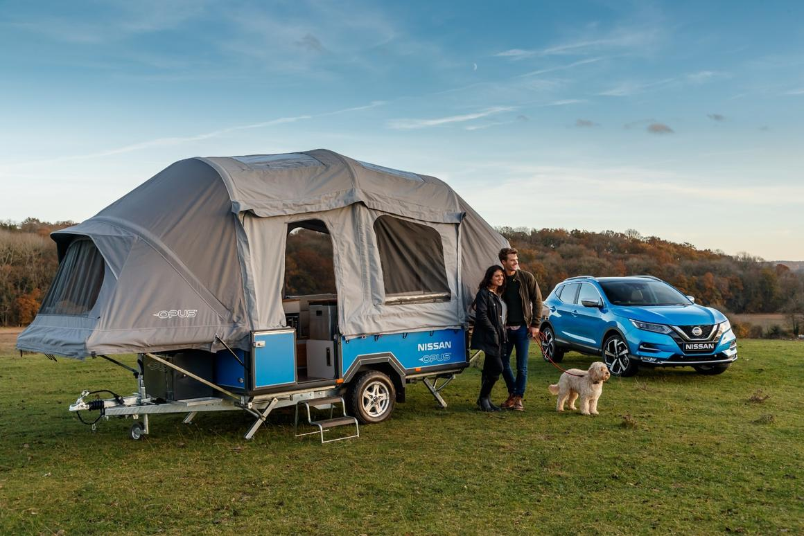 Nissan gives the Opus inflatable camping trailer a week of