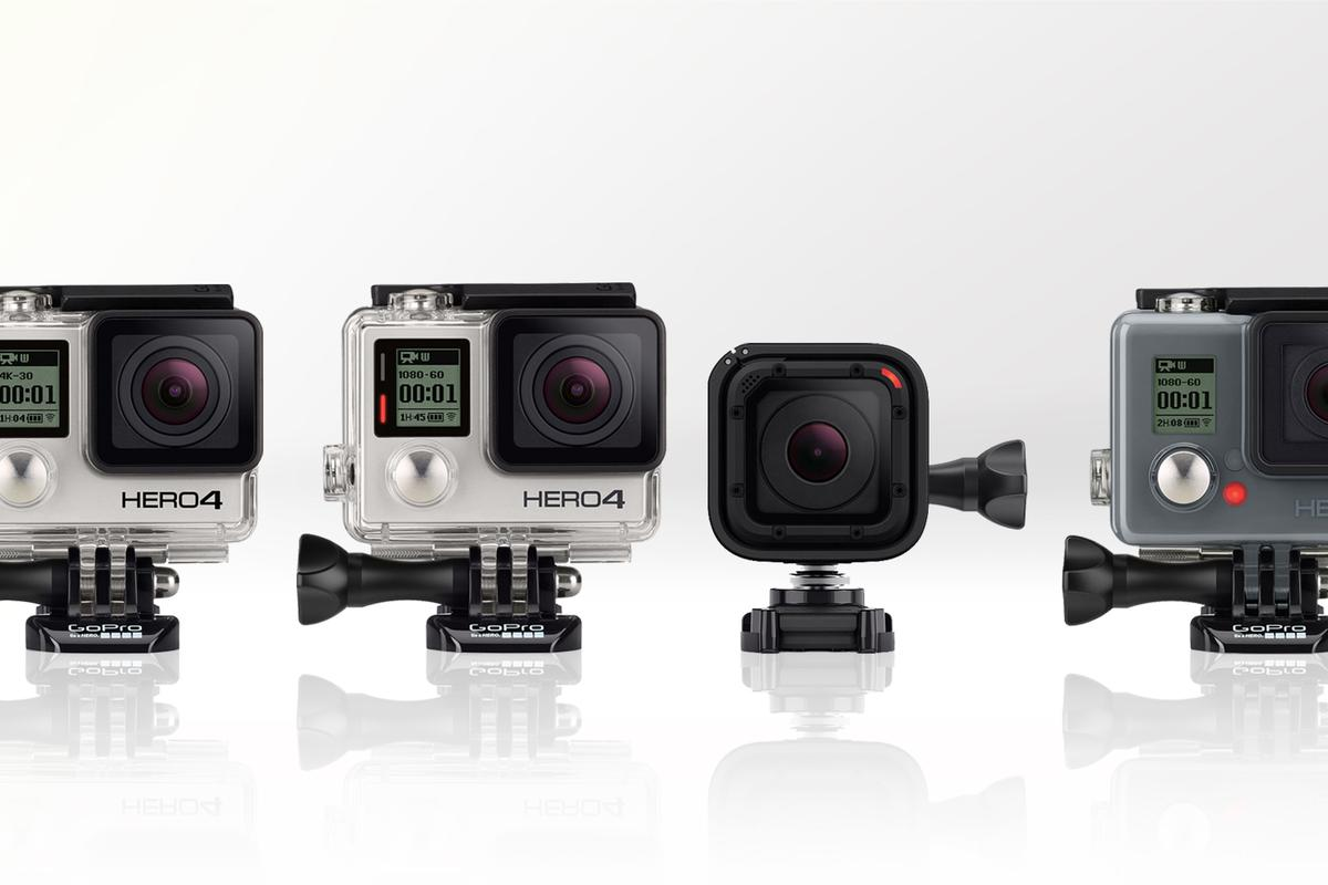 Gizmag compares the key specs and features of the GoPro Hero4 Black, Silver, and Session along with the Hero+ LCD