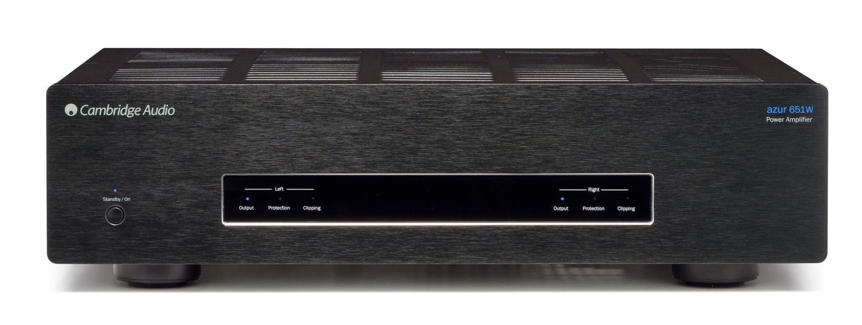 The Cambridge Audio Azur 651W power amplifier (front)