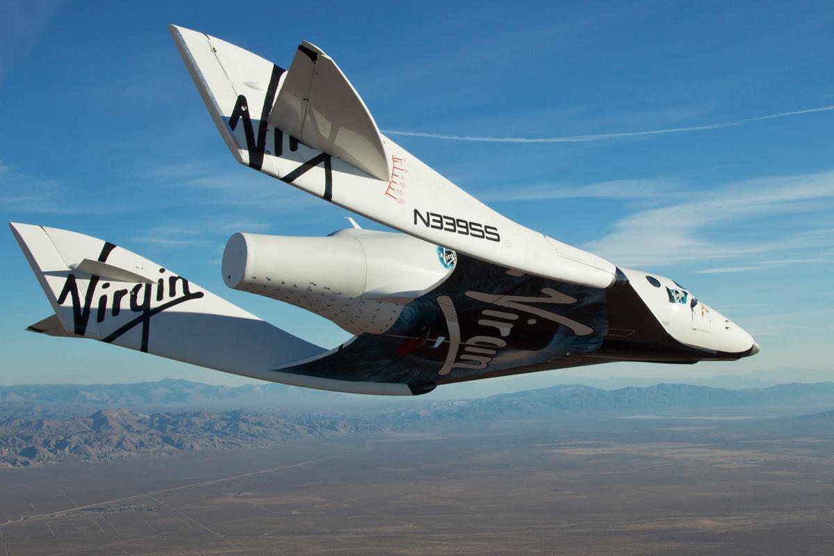 VSS Enterprise on its milestone first free flight (Image: Mark Greenberg)