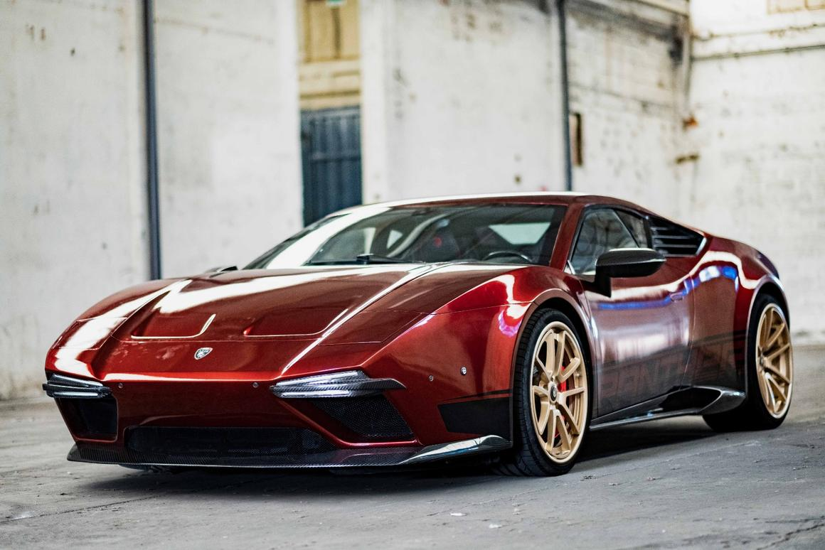 The Panther ProgettoUno is an homage to the De Tomaso Pantera of the early 70s