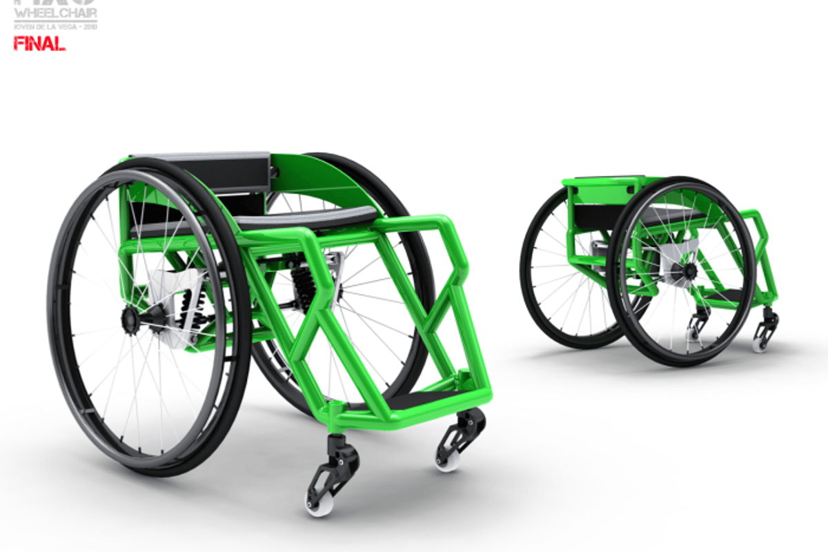 Computer rendering of the HXC wheelchair