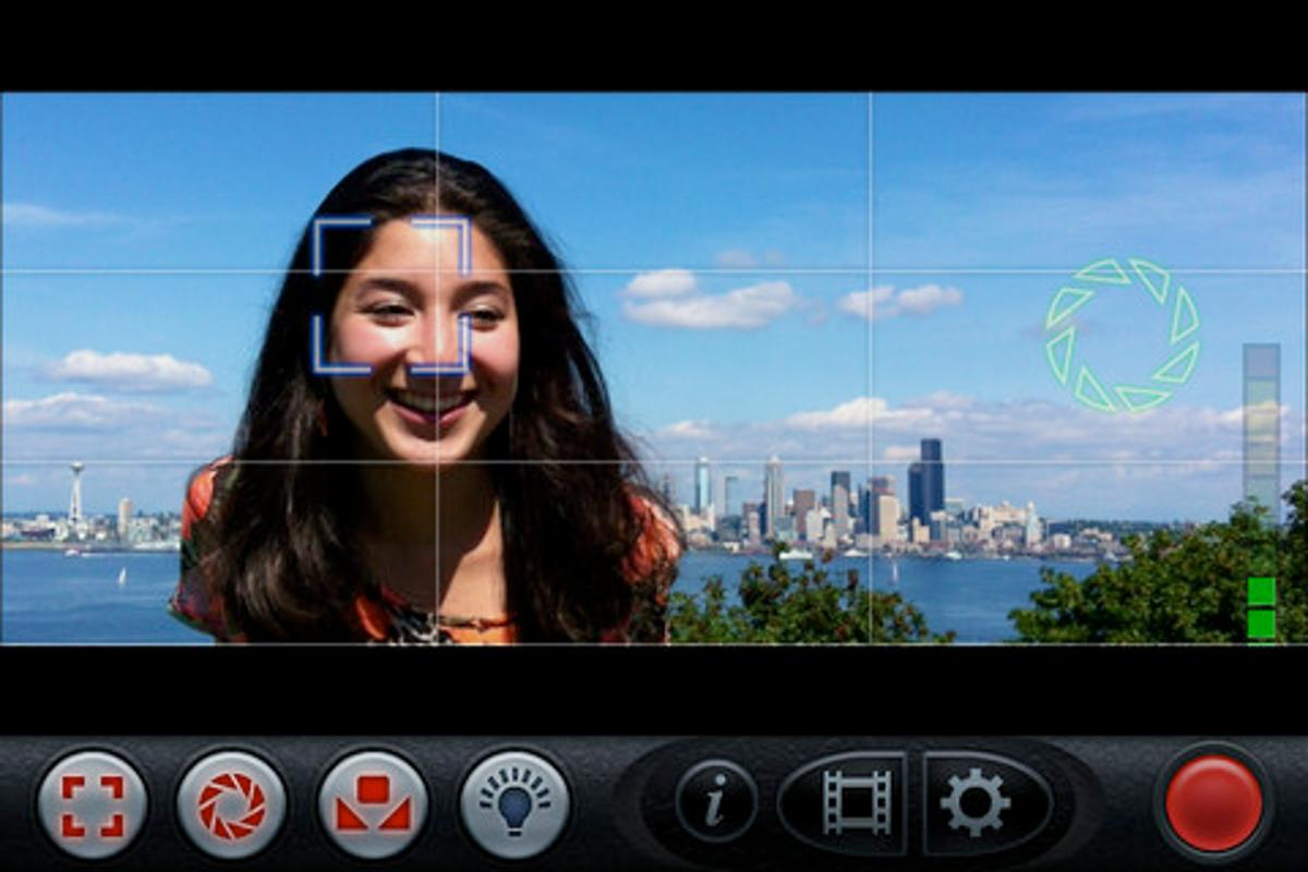 The FiLMiC Pro app allows film-makers to manually control various aspects of their iPhone's video capture capabilities