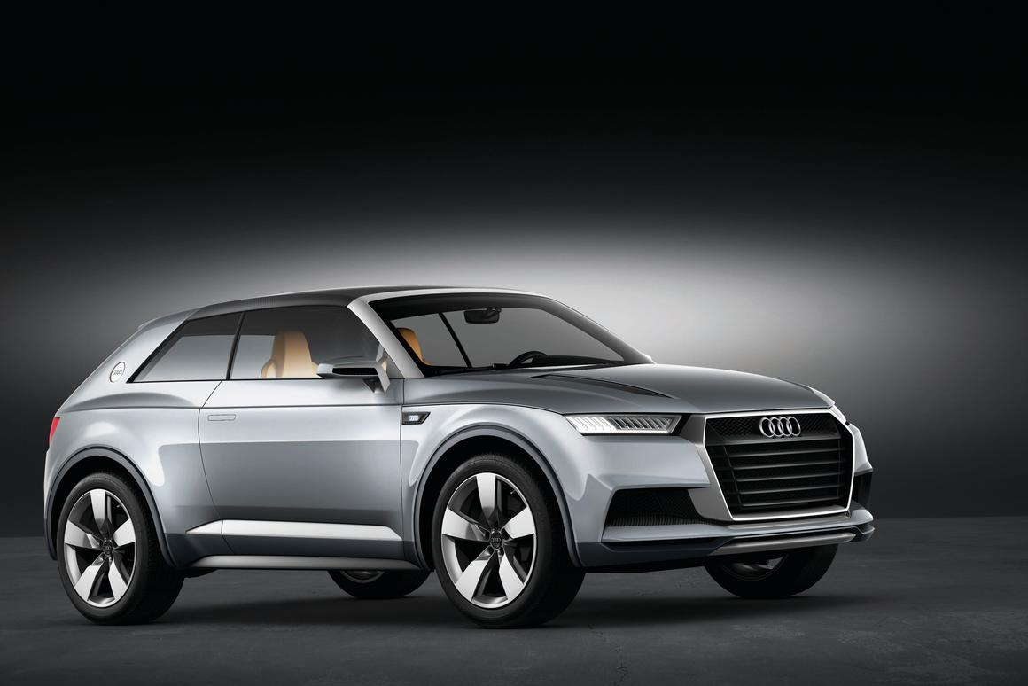 The Audi crosslane coupé concept unveiled in Paris