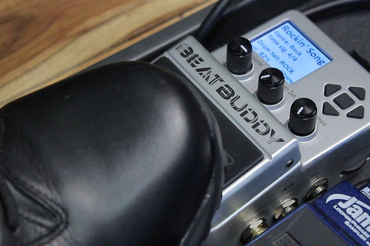 The Beatbuddy guitar pedal drum machine from David Packouz