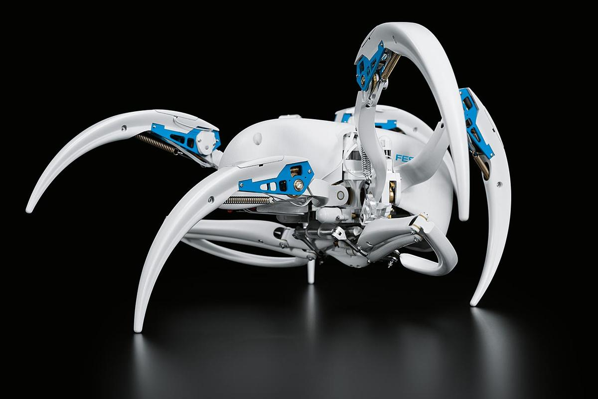 The Festo BionicWheelBot, in walking mode