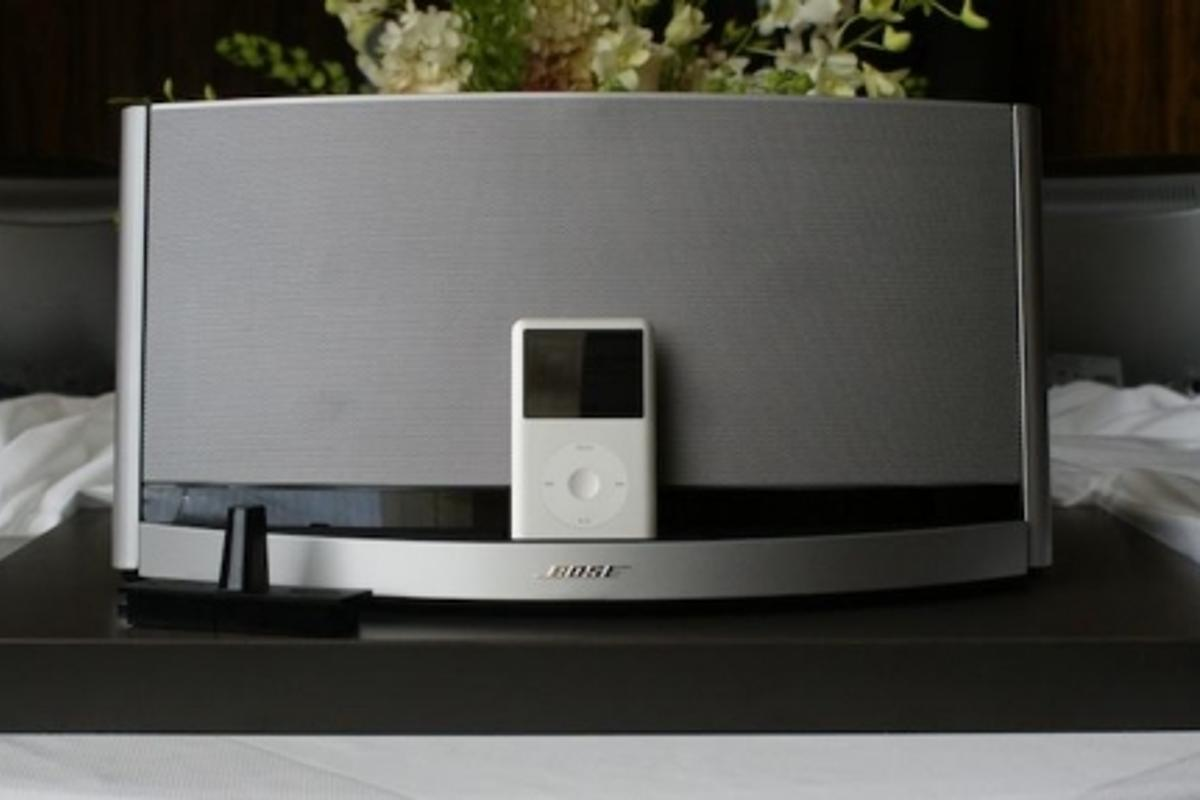 The Bose SoundDock 10 ... big sound from a small package, featuring interchangeable docking and optional Bluetooth connectivity