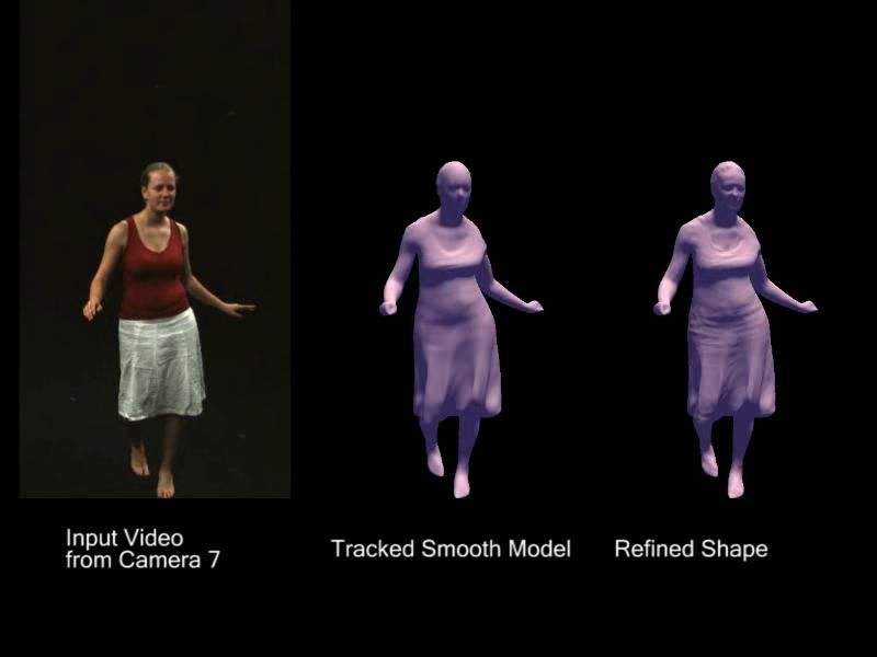 The Captury's motion capture software can generate realistic three-dimensional data such as the folds in this woman's dress