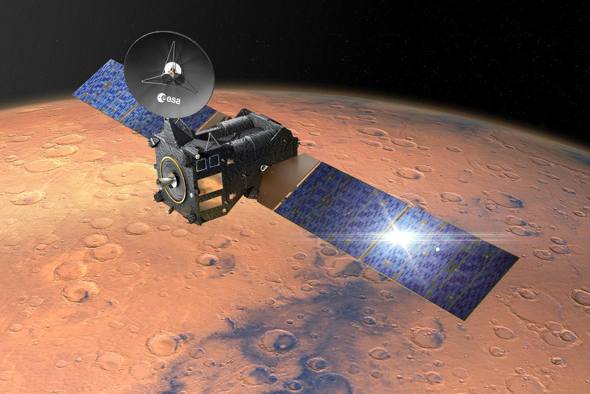 Artist's concept of the ExoMars Trace Gas Orbiter