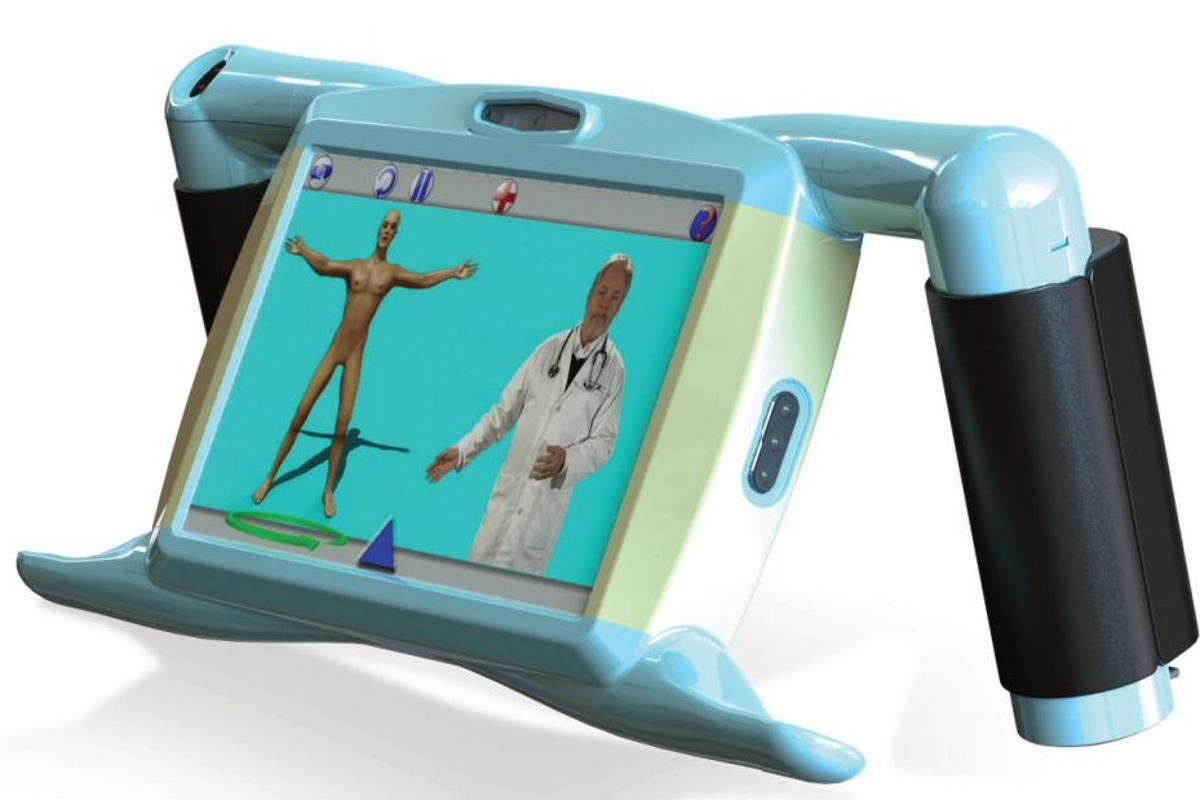 Phrazer is a handheld medical communicator that identifies a patient's native language and gathers information using onscreen videos, which is summarized into a medical record compatible with all major EMR systems