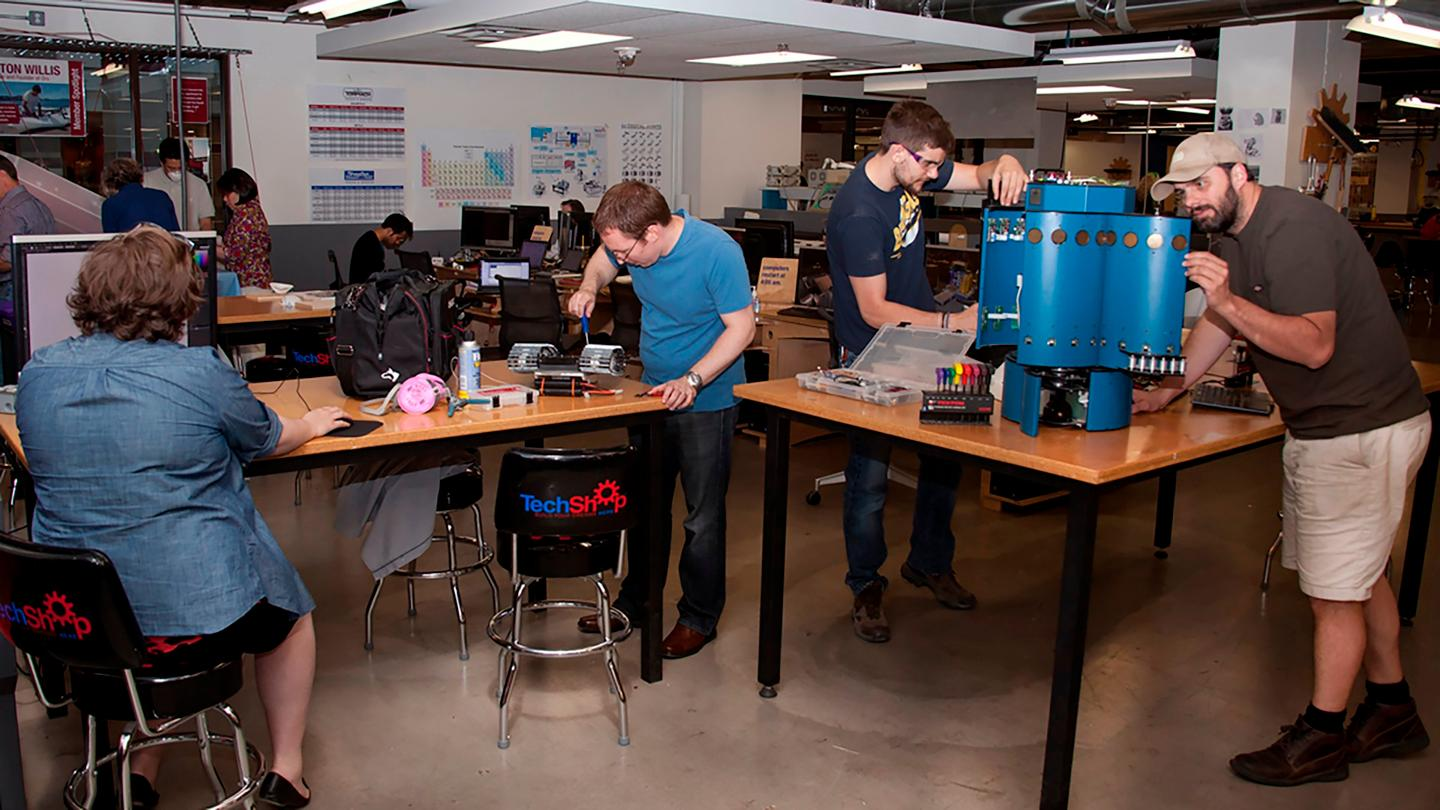The agency is hoping to harness innovations from untapped sources, such as the DARPA-funded TechShop (pictured)