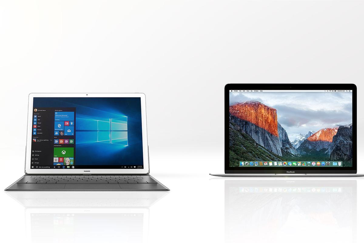 We compare two ultra-light, ultra-thin, ultra-compact ... and slightly questionable for work products, the Huawei MateBook (left) and Apple 12-inch MacBook