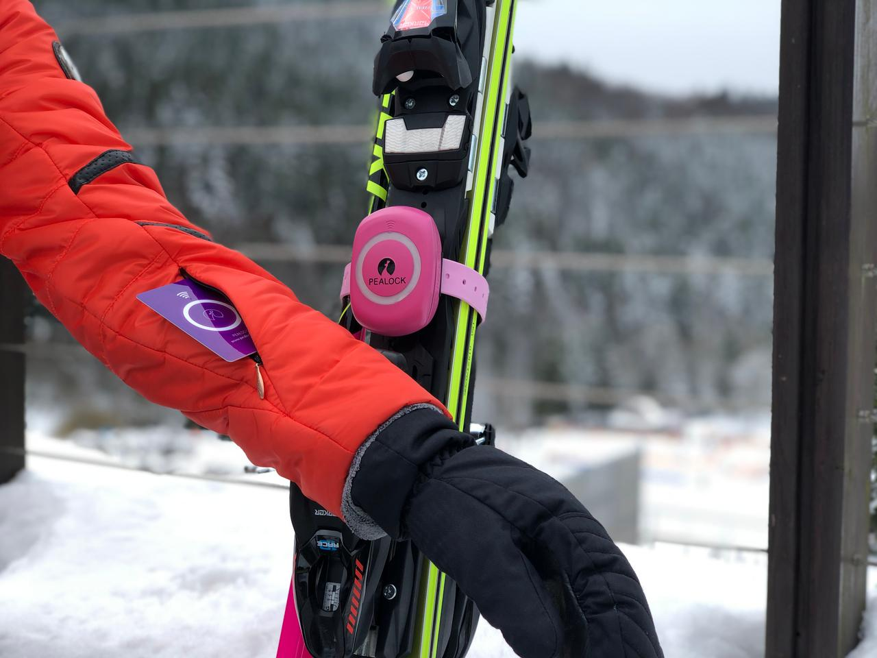 The Pealock can be used on skis or snowboards