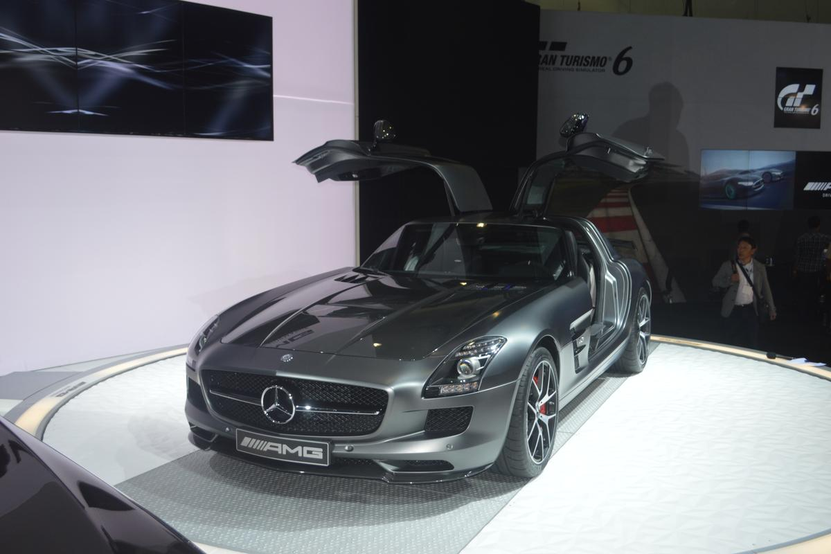The SLS AMG GT Final Edition on display in LA