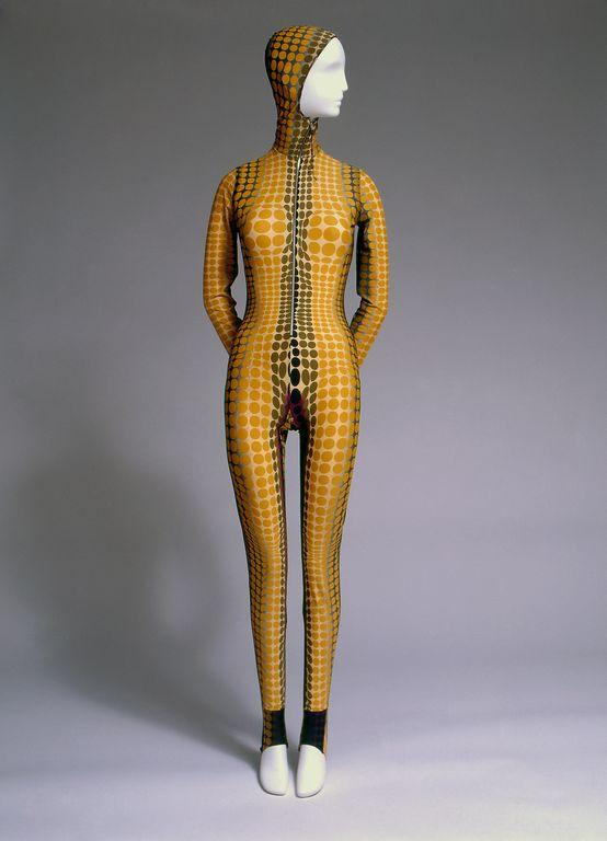 Jean Paul Gautier got inspiration from the internet to design this jumpsuit in 1996
