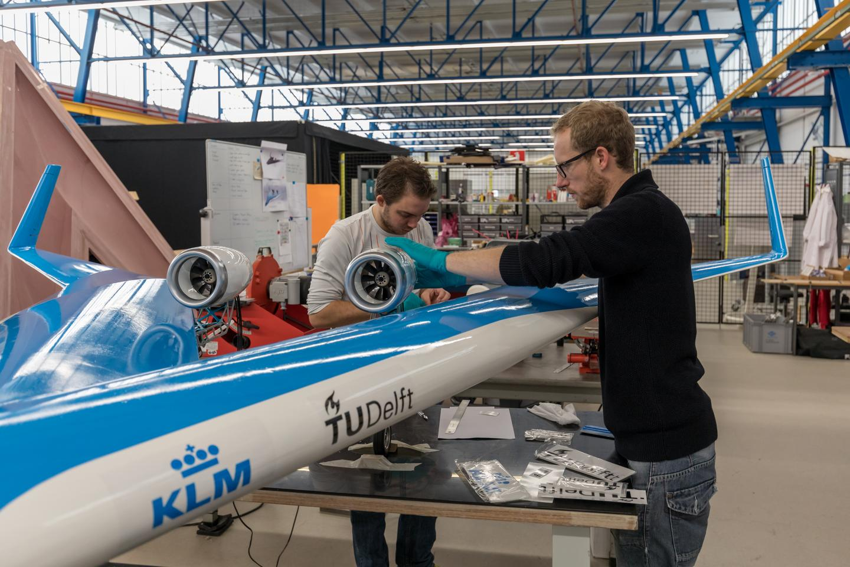 El Flying-V a escala | Imagen: Henri Werij / TU Delft