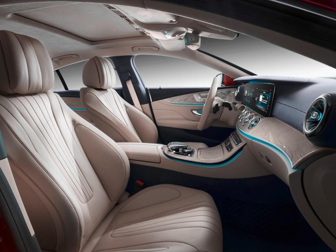 """Mercedes-Benz is debuting a new """"ENERGIZING Comfort"""" system that combines comfort-oriented systems in the CLS with one another to add what Mercedes calls """"wellness"""" to the mix"""