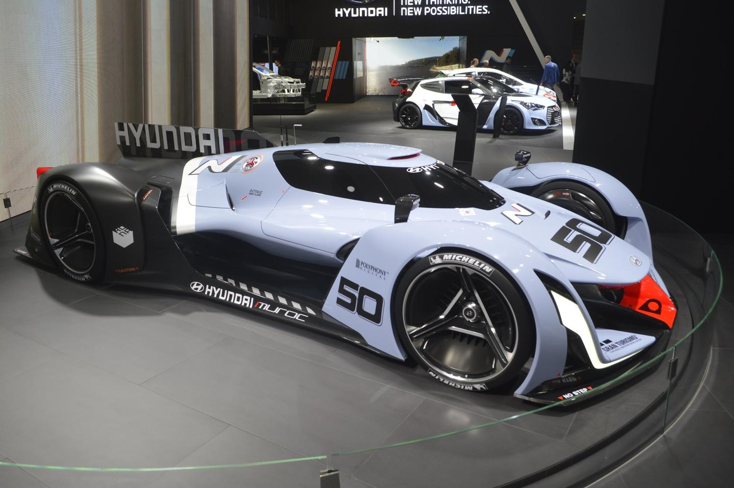The N 2025 Vision Gran Turismo is described as looking like a floating jet fighter