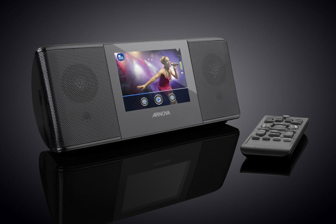Archos has revealed its version of the radio alarm clock, which sports a 3.5-inch color display for viewing web TV channels and can wake up users to an internet radio station, a connected media player or stored music files