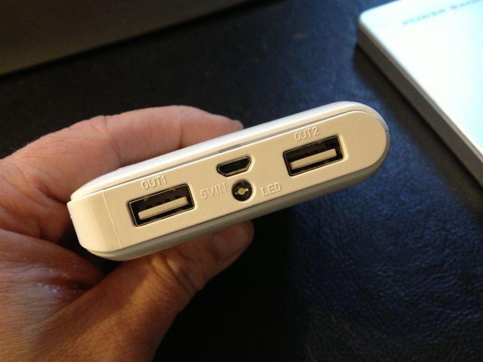 The 11,200 mAh Expedition's ports