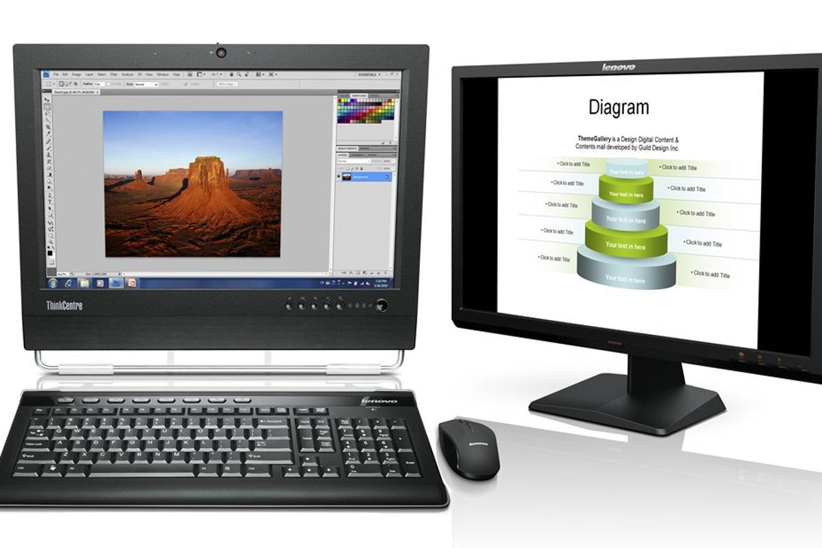 Lenovo's ThinkCenter M70z is a multi-touch Windows 7 all-in-one desktop