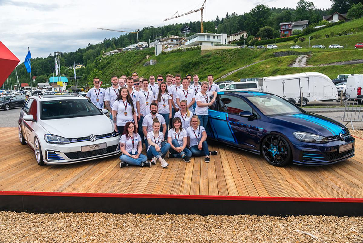 Volkswagen first revealedits two apprentice Golfs at its Worthersee GTIgathering on Wednesday
