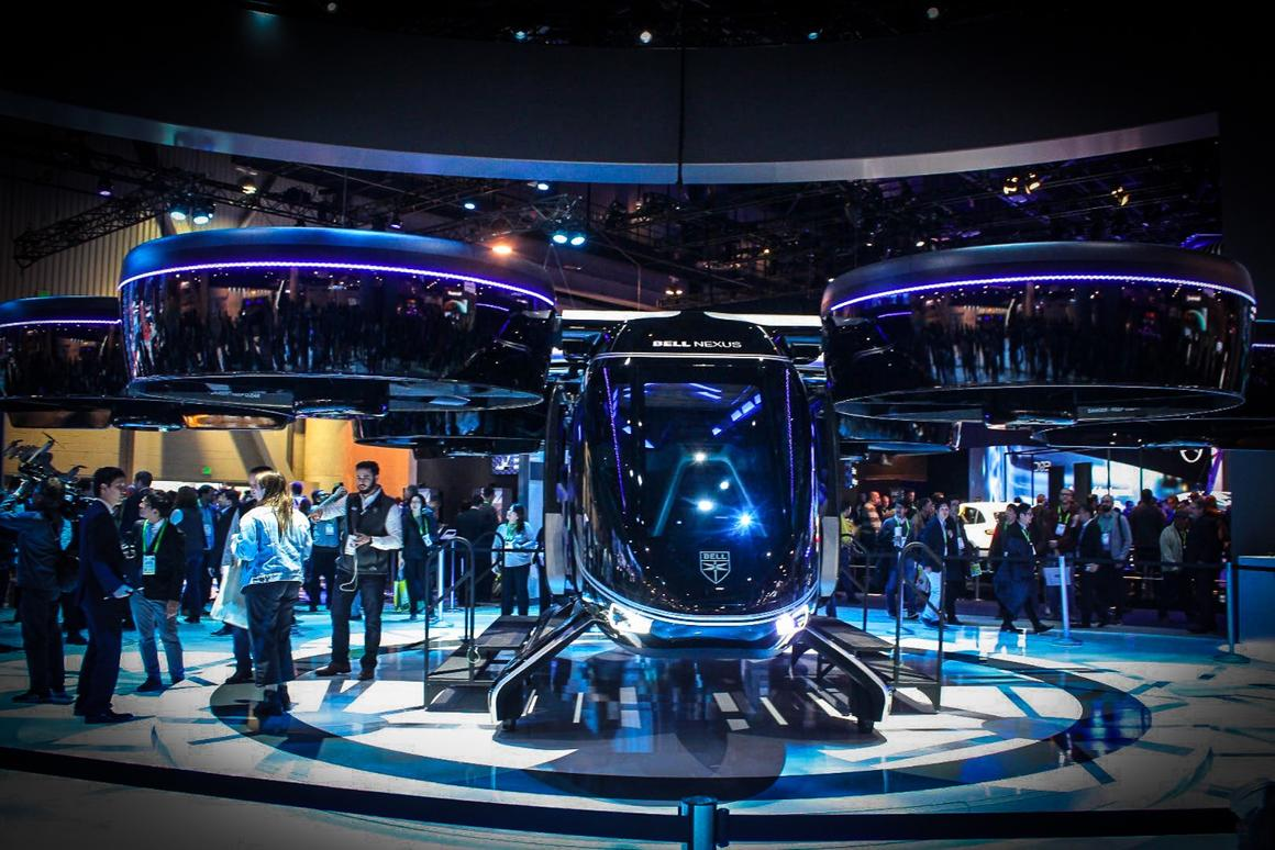 Probably the most sensational vehicle at all of CES, theBell Nexus concept