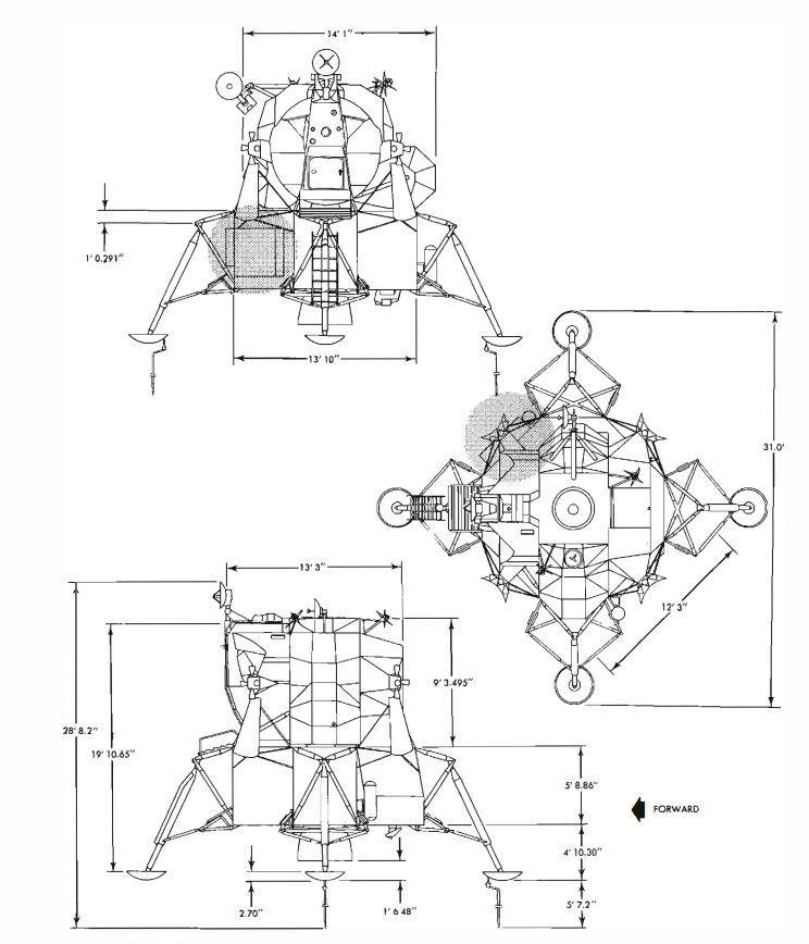 Lunar Module dimensions