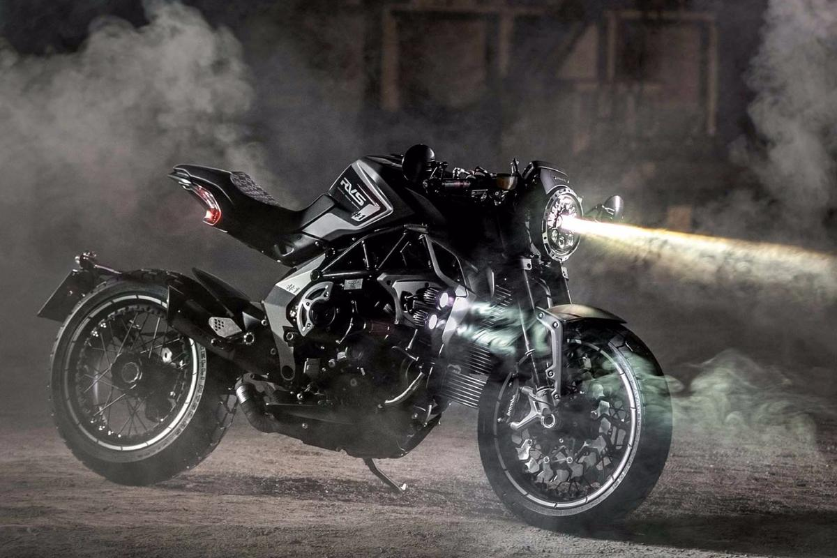 The MV Agusta RVS #1 is a factory-customized Brutale Dragster