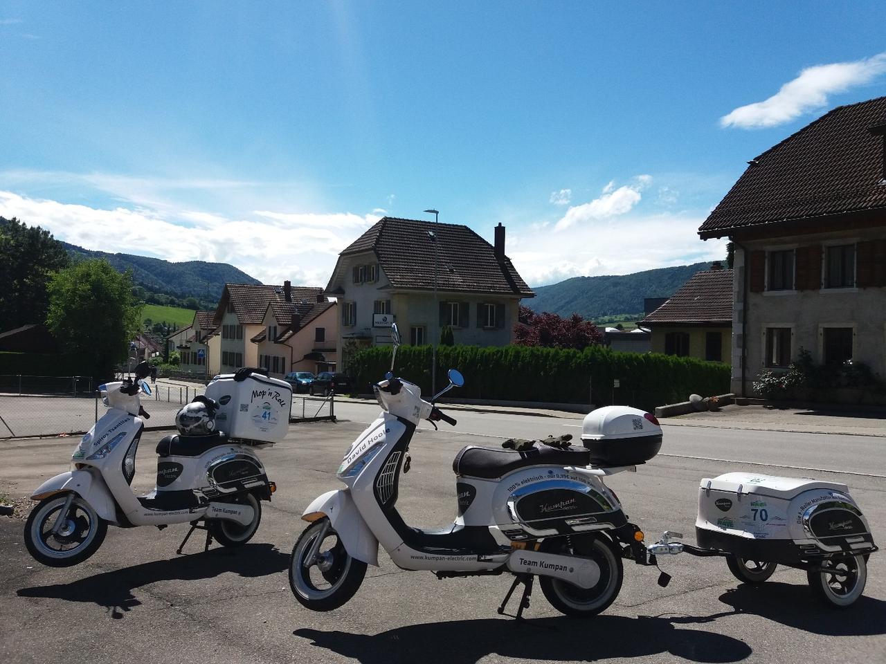 A last rest stop for Team Kumpana few miles before the WAVE Trophy finish line in Pratteln, Switzerland